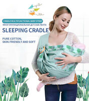 Baby Wrap Carrier Newborn Sling Dual Use Infant Nursing Cover Carrier Breastfeed
