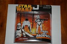 Clone Trooper Firing Jet Backpack-Star Wars Revenge of the Sith Deluxe-MOC