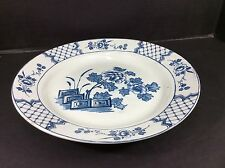 "BEAUTIFUL ANTIQUE DELFT BISTO ENGLAND 13"" ROUND SERVING PLATTER"