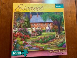 """Buffalo Games  """"The Sweet Garden"""" 1000 Piece Puzzle """"USED"""""""
