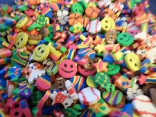 Novelty Gag Gifts Mini Erasers Smiley Sports More Birthday Lot of 10 Boys/Girls