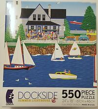550PC MARK FROST DOCKSIDE SUMMER LIGHTHOUSE JIG SAW PUZZLE 550 PIECE USA MADE