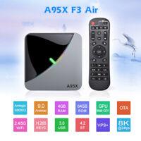 F3 Air 8K Android 9.0 TV BOX Amlogic S905X3 4K RGB Light TV Box Media player 64G