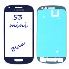 Samsung Galaxy S3 mini i8190 LCD Display Glas Touch Screen Front Blau +Klebfolie