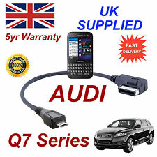 AUDI Q7 Series 4f0051510m CAVO PER BLACKBERRY Q5 MICRO USB Cavo audio 30 cm