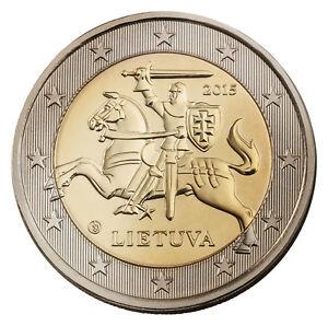 LITHUANIA  - 2 € Euro circulation coin 2015 uncirculated
