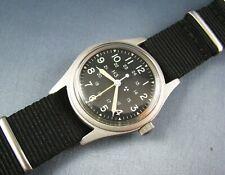 RARE Vintage Hamilton Mil-W-46374D US Military Hacking Mens Pilots Watch 1988
