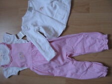 Ralph LAUREN BABY Lusso Set shirt patta Pantaloni Cardigan 74/80 12m NUOVO