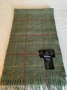 Barbour Tartan Check Wool Blend Scarf