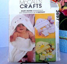 McCalls Crafts 3697 Sewing Pattern Baby Essentials