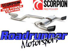 "SCORPION FORD Focus RS MK2 Tubo di scarico 3 ""CAT BACK SISTEMA ANTI RES Nero Tail sfd066c"