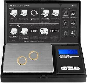 0.01G-500G digital weighing SCALES pocket grams small kitchen Gold JEWELLERY