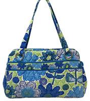 VERA BRADLEY Whitney Shoulder Bag In Doodle Daisy Blue Green Retired EUC!