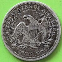 USA QUARTER DOLLAR LIBERTY SEATED 1853