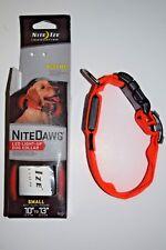 Dog Nite Dawg LED Light Collar Cover 2 mode setting Glow/Flash Reflective Orange
