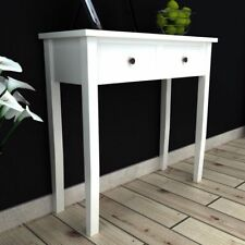 Wooden White Console Table Hallway Dressing Stand Bedroom Hall Storage Drawers