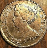 1711 GREAT BRITAIN QUEEN ANNE SHILLING COIN - Excellent example!