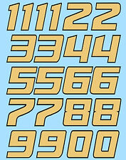 Zahlen Racing Numbers Gumball Nascar Style gold 1:18 Decal Abziehbilder