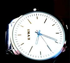 EYKI OVERFLY LUXURY MEN'S SLIM STYLE WHITE DIAL WATCH W8342RG