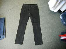 "Marks & Spencer Straight Leg Jeans Size 12 Leg 28"" Black Faded Ladies Jeans"