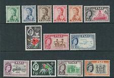 FIJI 1959-63 QEII definitives (Scott 163-75 complete set) VF MH