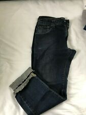 LEVIS 520 LOW TAPERTED 30X28 CUT BOTTOMS FOR FRAY