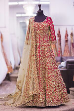Ethnic Anarkali Salwar Kameez Indian Pakistani Bollywood Designer Wedding Dress4