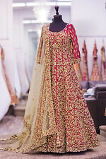 Ethnic Anarkali Salwar Kameez Indian Pakistani Bollywood Designer Wedding Dress4