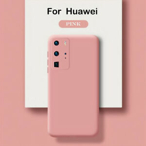 For Huawei P30 Lite P20 P40 Pro Mate 30 20 P10/8 Liquid Silicone Soft Case Cover