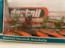 6 Britains Deetail American Toy Soldiers with metal bases. New in original box.