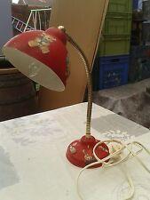 lampe de bureau rouge ancienne,loft,usine,vintage,atelier