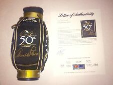 Arnold Palmer Signed/Auto Mini Golf Bag 50th Anniversary at the Masters PSA/DNA