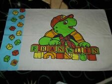Vintage FRANKLIN Turtle Blocks Book Character Reversible Pillow Case (Fabric)