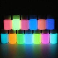 12 Colors 10g Eco-friendly Luminous Pigment Fluorescent Powder Glow in the Dark