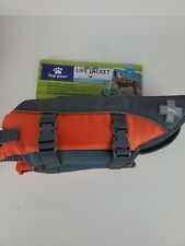 "NEW TOP PAW DOG LIFE VEST JACKET BOATING ORANGE S 16""-20"" 15-30 LBS"