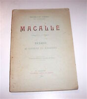 Colonialismo Africa Riguzzi Macallè - Diario 45 giorni di assedio 1^ ed. 1901