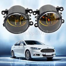 Yellow Driver Passenger Side Fog Light Lamps + Bulbs For Acura Honda Ford Nissan