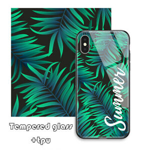 Personalized Tempered Glass Phone Case Cover Custom Printed Photo Picture Image
