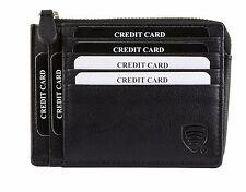 RFID Sperrung SCHMAL kompakte Geldbörse ZERTIFIZIERT 100% SCHUTZ