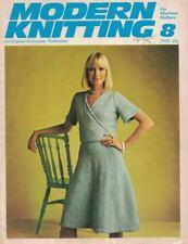 Modern Knitting #8 1975 Machine Knitting Patterns UK Magazine Vintage Hip Boho