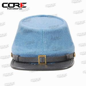 Civil War CS Confederate Infantry officers kepi, Complete Sky Blue Kepi Hat
