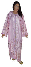 Moroccan Womens Caftan Takchita Handmade Dress With Embroidery Kaftan Pink