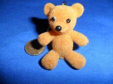 Vintage Plastic Body Flocked Miniature Teddy Bear