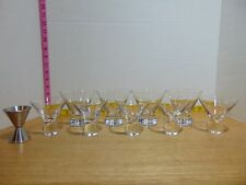 New listing Bar Glass Set 4 Large 5 Small Mixed Drink + Single/Double Shot Jigger 10 Piece
