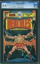 HERCULES UNBOUND #1 DC 1975 CGC 9.4 OWTW