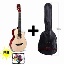 "WALNUT Acoustic Guitar Package 3/4 Size 38"" Beginner Student Adult+Picks+Bag"