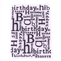 The Happy Birthday Plastic Embossing Folders For DIY Card Making Decor Newest