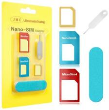 Universal Nano SIM Card to Micro Standard Adapter Converter Set for Phone 5 IN 1