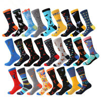 NEW Mens Combed Cotton Socks Funny Colorful  Animal Dog Casual Unisex Long Socks