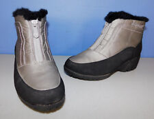 WANDERLUST SILVER, GRAY AND BLACK ANKLE BOOTS SIZE 6WW